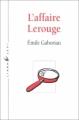 Couverture L'affaire Lerouge Editions Liana Lévi 1991