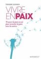 Couverture Vivre en paix Editions Marabout 2008