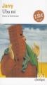 Couverture Ubu roi Editions Folio  (Classique) 2002