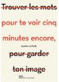 Couverture Pour te voir cinq minutes encore Editions Ateliers Henry Dougier 2019