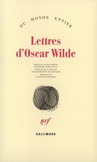 Couverture Lettres d'Oscar Wilde
