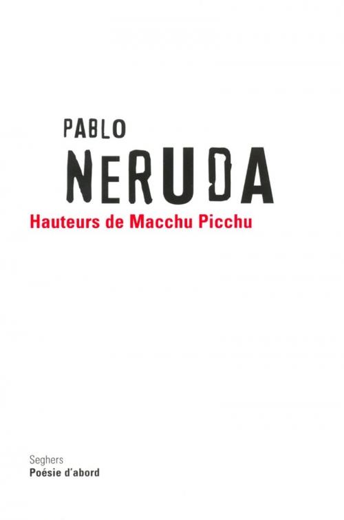 Couverture Hauteurs du Macchu Picchu