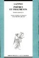 Couverture Poèmes et fragments Editions L'âge d'Homme 1991