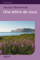 Couverture Une lettre de vous Editions Feryane (Gros Caracteres) 2015