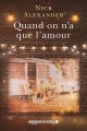 Couverture Quand on n'a que l'amour Editions Amazon Crossing 2019