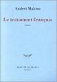 Couverture Le Testament français Editions Mercure de France (Bleue) 2013
