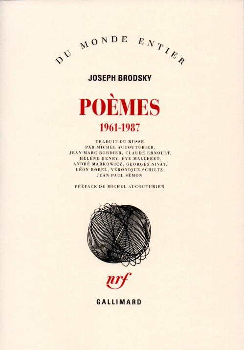 Couverture Poèmes 1961- 1987