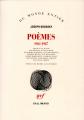 Couverture Poèmes 1961- 1987 Editions Gallimard  (Du monde entier) 2017