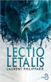 Couverture Lectio letalis Editions Belfond 2019