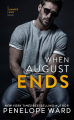 Couverture When August Ends Editions CreateSpace 2019