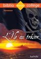 Couverture L'île au trésor Editions Hachette (Biblio collège) 2016