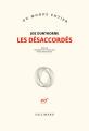 Couverture Les désaccordés Editions Gallimard  (Du monde entier) 2019