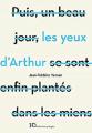 Couverture Les yeux d'Arthur Editions Ateliers Henry Dougier 2019