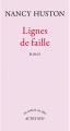 Couverture Lignes de faille Editions Actes Sud (Un endroit où aller) 2012