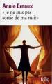 """Couverture """"Je ne suis pas sortie de ma nuit"""" Editions Gallimard  1999"""