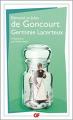 Couverture Germinie Lacerteux Editions Flammarion (GF) 2017