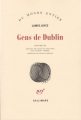 Couverture Dublinois / Gens de Dublin Editions Gallimard  (Du monde entier) 1985