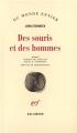 Couverture Des souris et des hommes Editions Gallimard  (Du monde entier) 1939