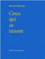 Couverture Ceux qui se taisent Editions Bruno Doucey 2016