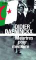 Couverture Meurtres pour mémoire Editions Folio  (Policier) 2016