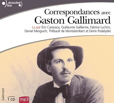 Couverture Correspondances avec Gaston Gallimard