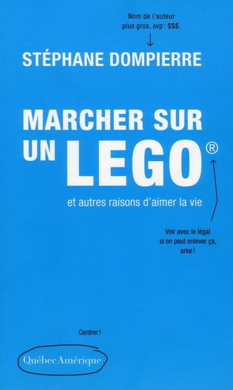 Couverture Marcher sur un Lego et autres raisons d'aimer la vie