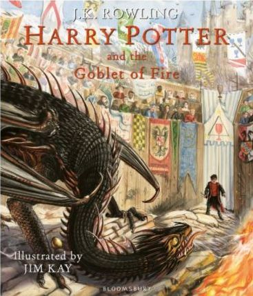 Couverture Harry Potter, illustrée, tome 4 : Harry Potter et la coupe de feu