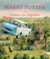 Couverture Harry Potter, illustrée, tome 2 : Harry Potter et la chambre des secrets Editions Presença 2016