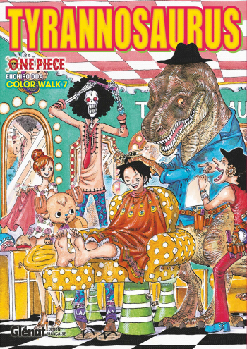 Couverture One Piece : Color walk, tome 7 : Tyrannosaurus