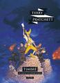 Couverture Les Annales du Disque-Monde, tome 30 : Timbré Editions L'Atalante (La Dentelle du cygne) 2018