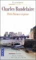 Couverture Le spleen de Paris / Petits poèmes en prose Editions Pocket (Classiques) 2010