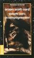 Couverture Sonate sans accompagnement Editions Denoël (Présence du futur) 1996