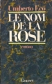Couverture Le Nom de la rose Editions Grasset 1985
