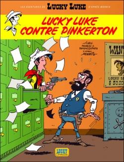 Couverture Les Aventures de Lucky Luke (d'après Morris), tome 4 : Lucky Luke contre Pinkerton