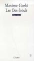 Couverture Les Bas-fonds Editions L'Arche 2003
