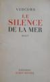 Couverture Le silence de la mer Editions Albin Michel 1950