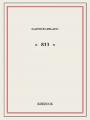 Couverture 813, intégrale Editions Bibebook 2016