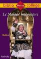 Couverture Le malade imaginaire Editions Hachette (Biblio collège) 2019