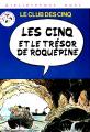 Couverture Les Cinq et le trésor de Roquepine Editions Hachette (Bibliothèque rose) 1979
