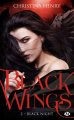 Couverture Black wings, tome 2 : Black night Editions Milady 2019