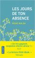 Couverture Les jours de ton absence Editions Pocket 2019