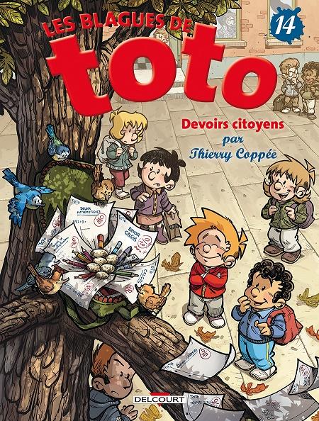 Couverture Les blagues de Toto, tome 14 : Devoirs citoyens
