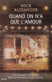 Couverture Quand on n'a que l'amour Editions City 2019