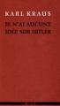 Couverture Je n'ai aucune idée sur Hitler Editions Agone  2013