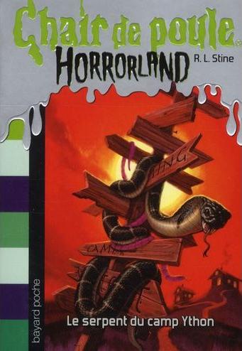 Couverture Chair de poule Horrorland : Le Serpent du Camp Ython