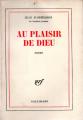 Couverture Au plaisir de dieu Editions Gallimard  1978