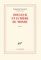 Couverture Douleur et lumière du monde Editions Gallimard  (Poésie) 2019