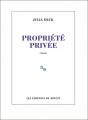 Couverture Propriété privée Editions de Minuit 2019