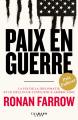 Couverture Paix en guerre Editions Calmann-Lévy (Documents, Actualités, Société) 2019
