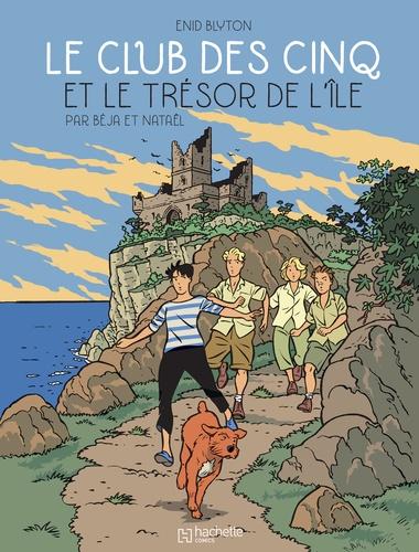 Couverture Le Club des Cinq, tome 1 : Le Club des Cinq et le trésor de l'île